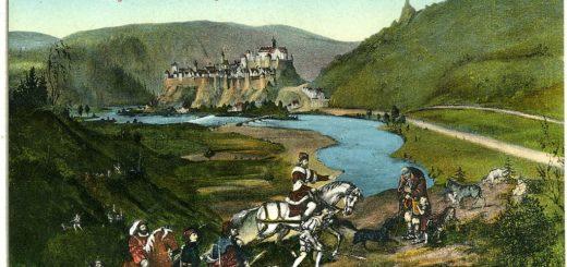 1024px-14811-Elbogen-1912-Auszug_Kaiser_Karl_iV._zur_Jagd-BrC3BCck_26_Sohn_Kunstverlag.jpg