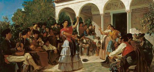 640px-Alfred_Dehodencq_A_Gypsy_Dance_in_the_Gardens_of_the_AlcC3A1zar.jpg