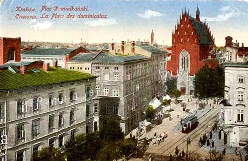 cracovie-place-dominicains-carte-postale
