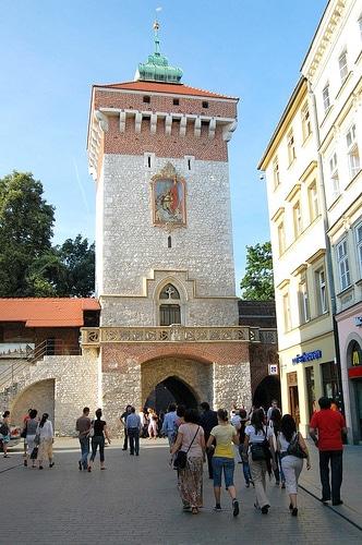 Porte de Florian (brama florianska) à Cracovie - Photo de Mike Chapel@Flickr