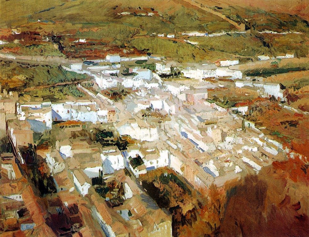 Quartier d'Albaicín, peinture de Grenade de Joaquín Sorolla