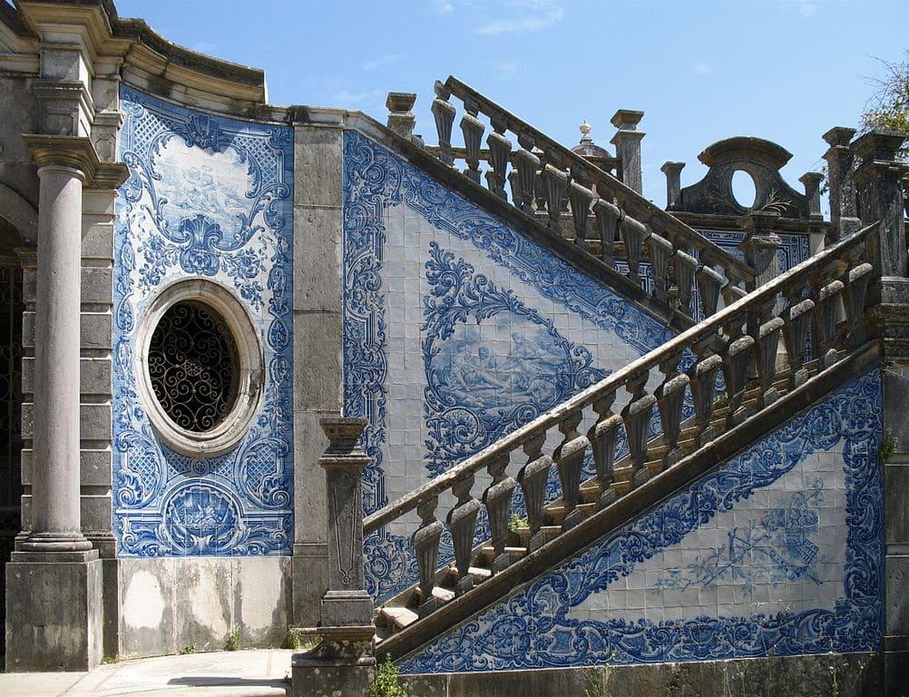 Azulejos au palais Estoi à Faro - Photo de Marc Ryckaert