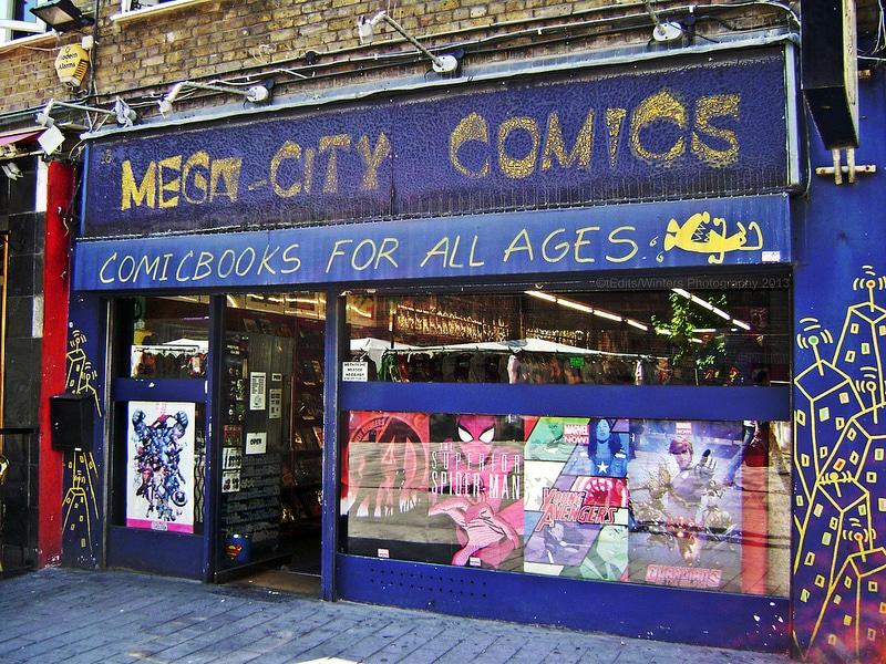 Mega city comics, Librairie BD à Londres [Camden town]