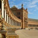 Place d'Espagne à Séville : Monumentale Plaza de Espana [Sur]