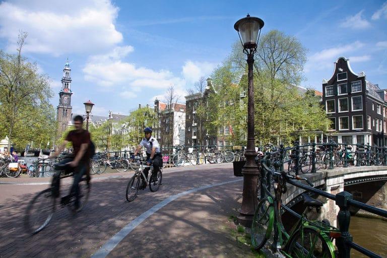 A vélo à Amsterdam !
