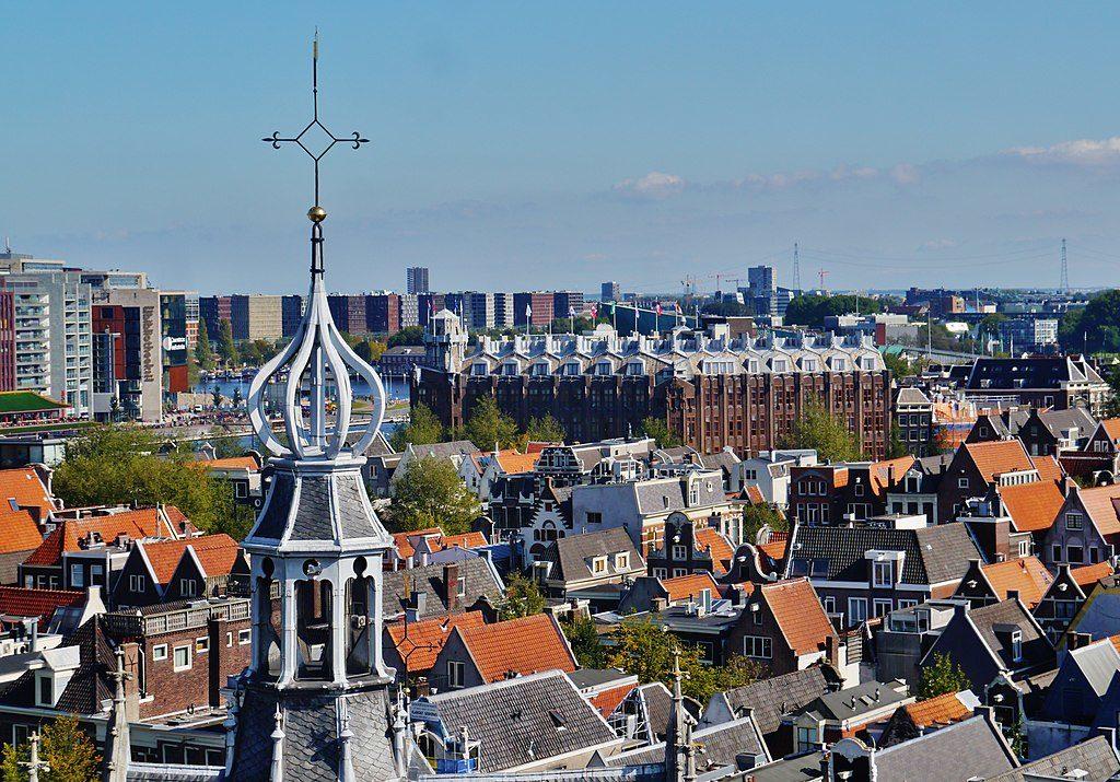 Vue sur Amsterdam depuis le clocher de l'Oude Kerk.