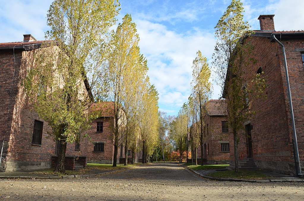 Baraques du camp Auschwitz I. Photo de Steven Lek