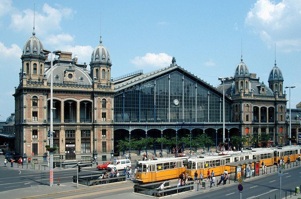 Gare de Budapest Nyugati dans le 6e arrondissement.