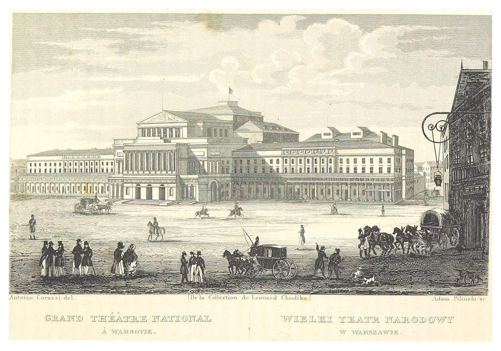 Grand Théâtre National de Varsovie en 1839.