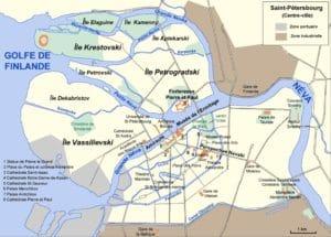 Carte détaillée de Saint Petersbourg à télécharger