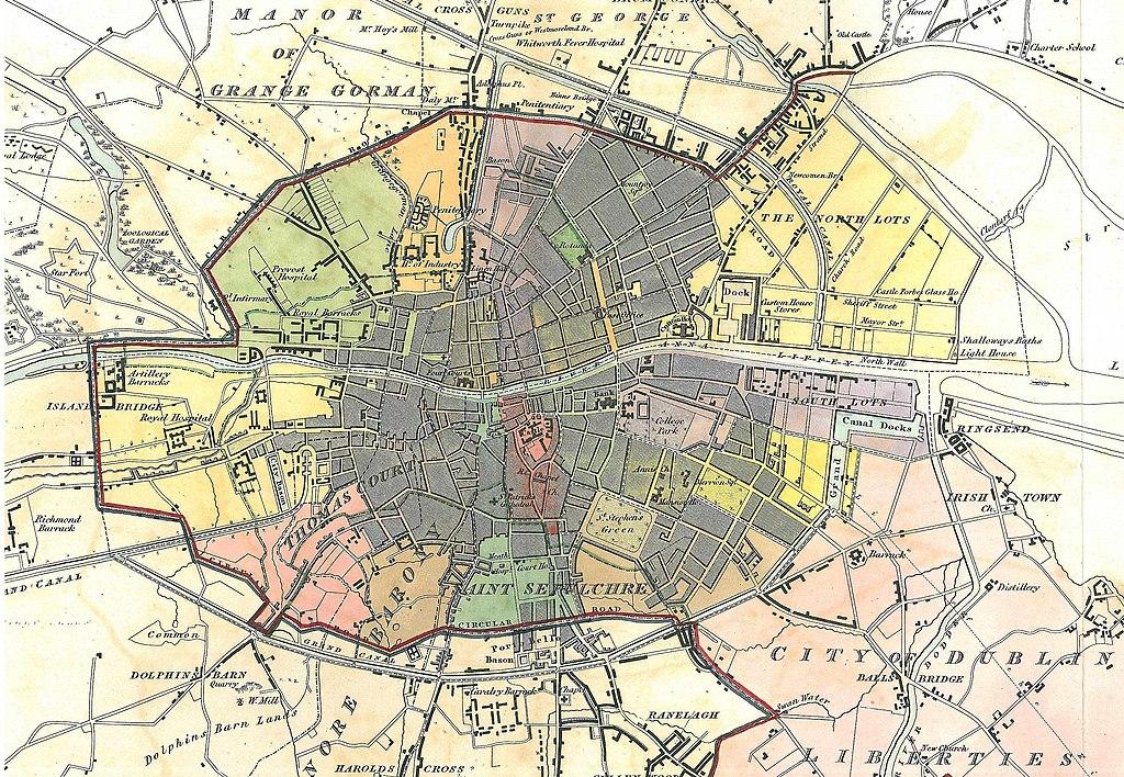 Carte détaillée de Dublin à télécharger
