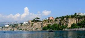Sorrente au dessus de la baie de Naples
