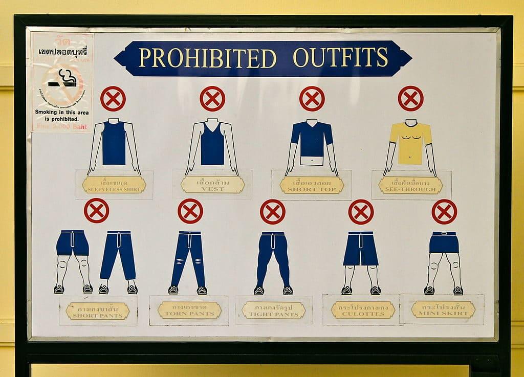 Dress code ou conseils vestimentaires pour accéder au Palais Royal de Bangkok - photo de Sodacan