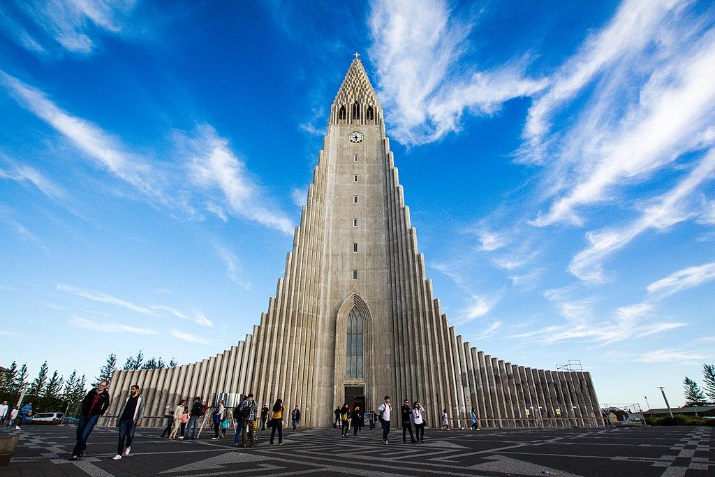 > Eglise Hallgrímskirkja à Reykjavík en Islande