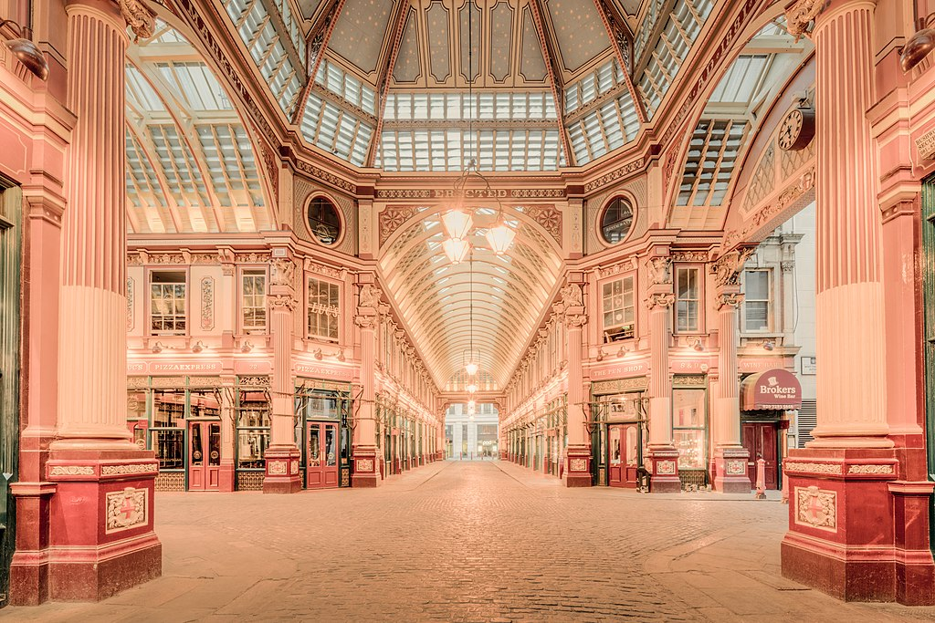 Lieux de tournage d'Harry Potter : Marché couvert de Leadenhall Market à Londres - Photo de Michael D Beckwith