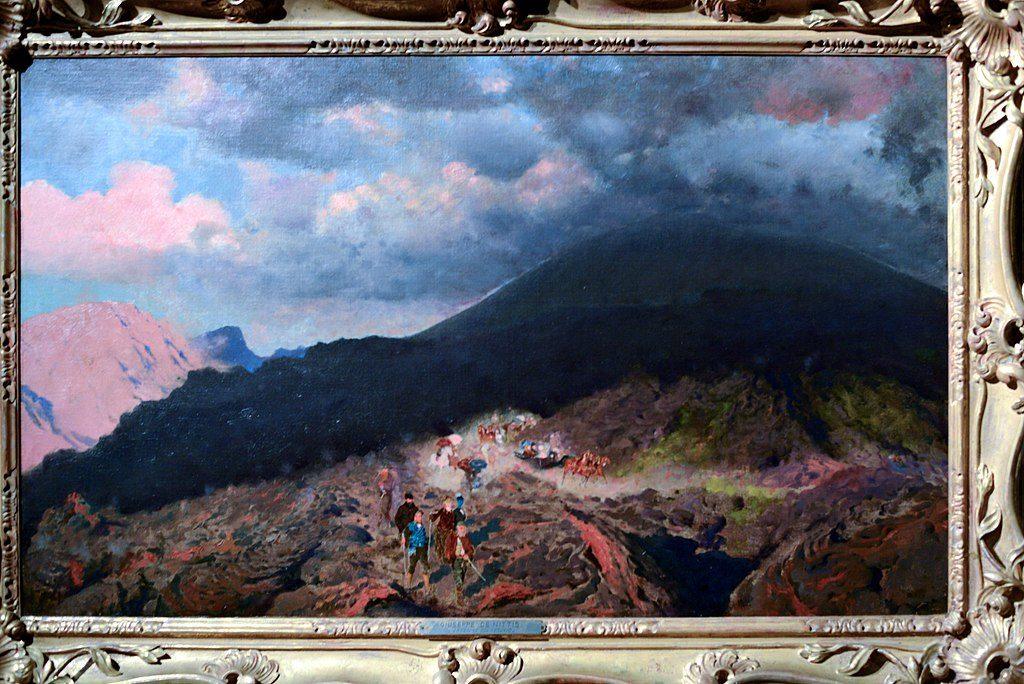 """L'eruzione del Vesuvio"" (1872) par De Nittis au Palazzo Zevallos à Naples."