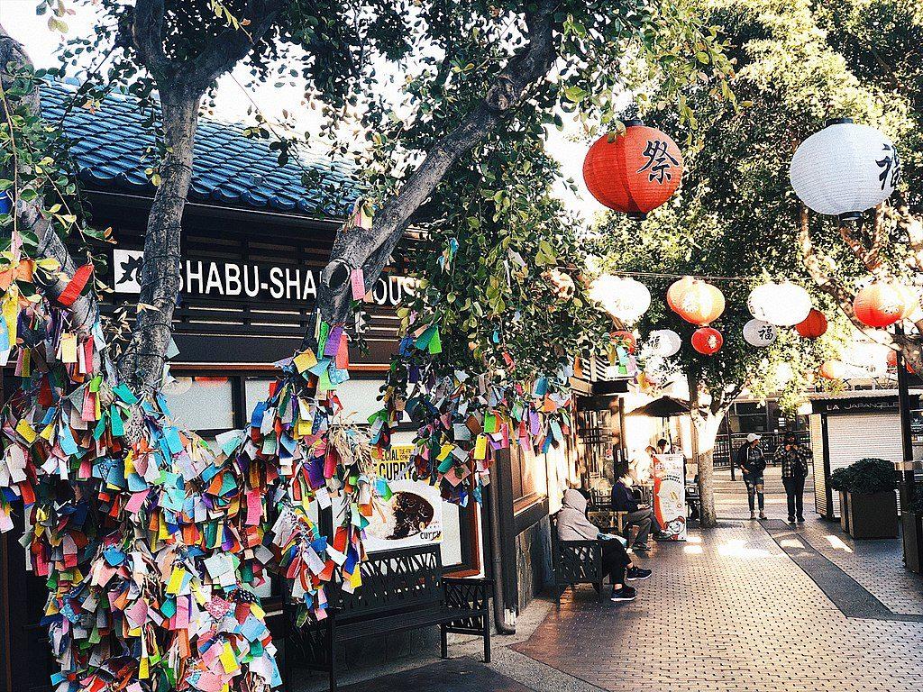Little Tokyo à Los Angeles : L'arbre aux prières - Photo de Justintran95
