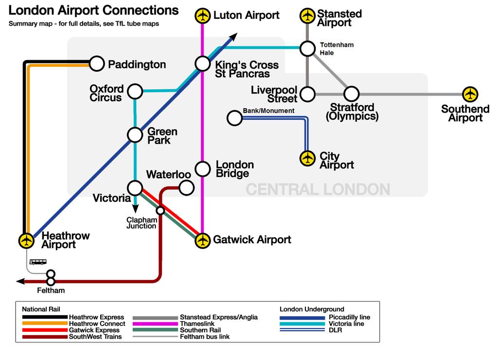 Rejoindre Londres depuis l'aéroport de Luton : Train ou bus