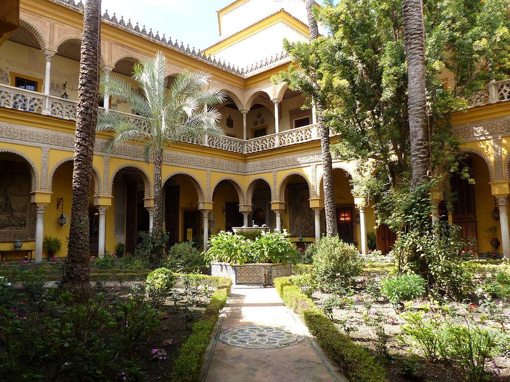 Palais de las Dueñas à Seville : Superbes patios et jardins [Centre]