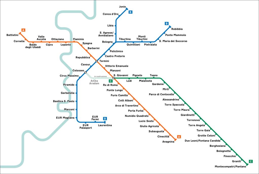 Metro à Rome : Plan, tarifs et attractions touristiques par station
