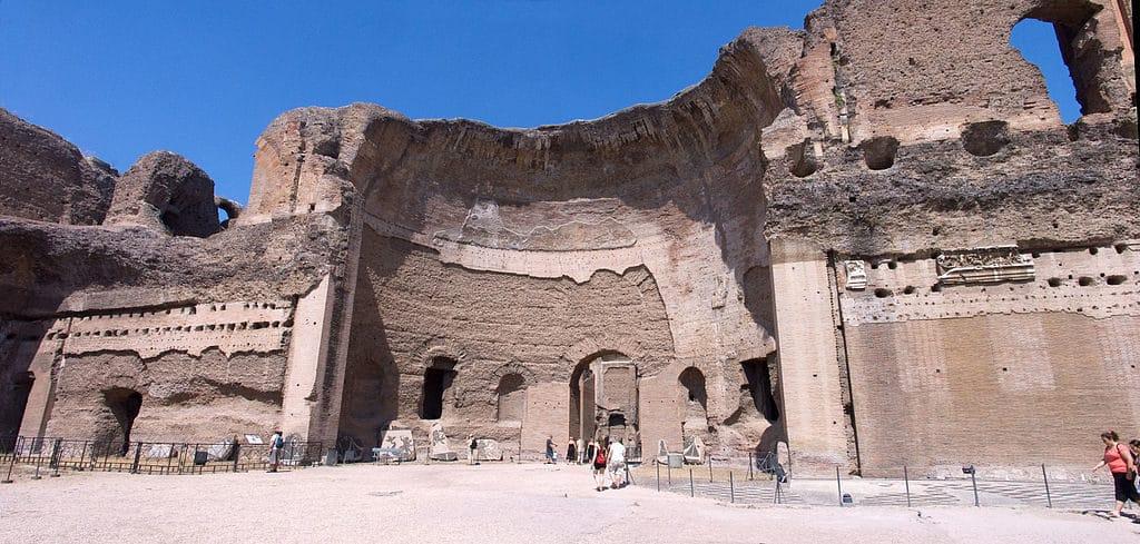 Ruine du Calidarium dans les thermes de Caracalla à Rome - Photo de Jean-Christophe BENOIST