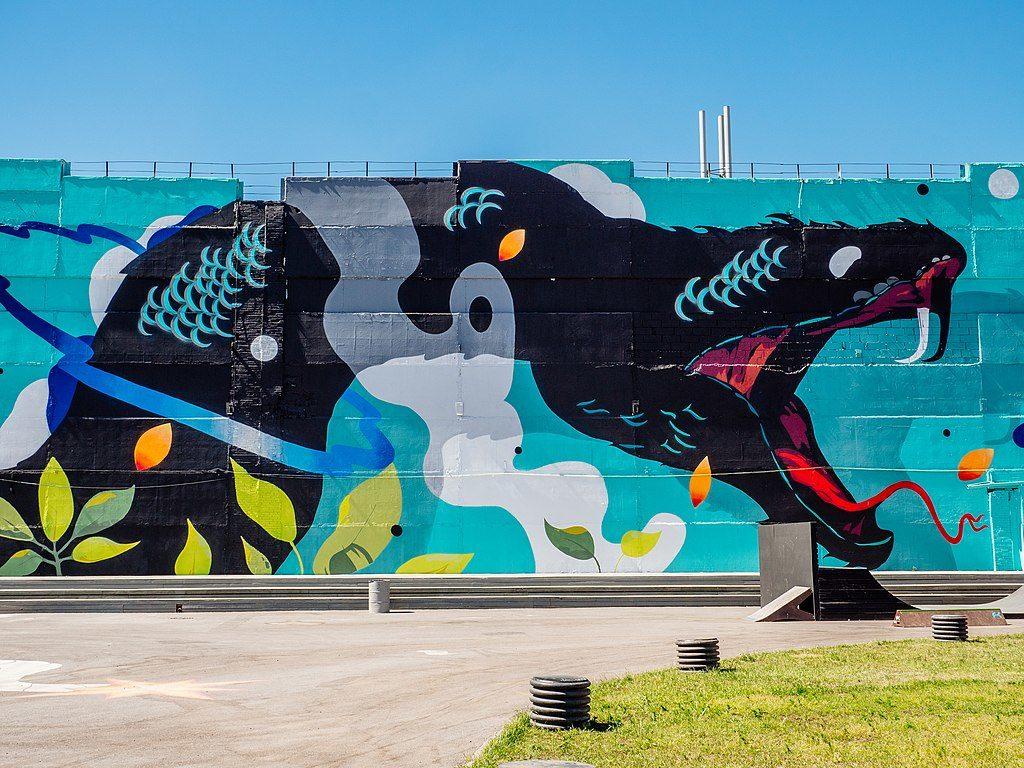 Musée du street art à Saint Petersbourg.