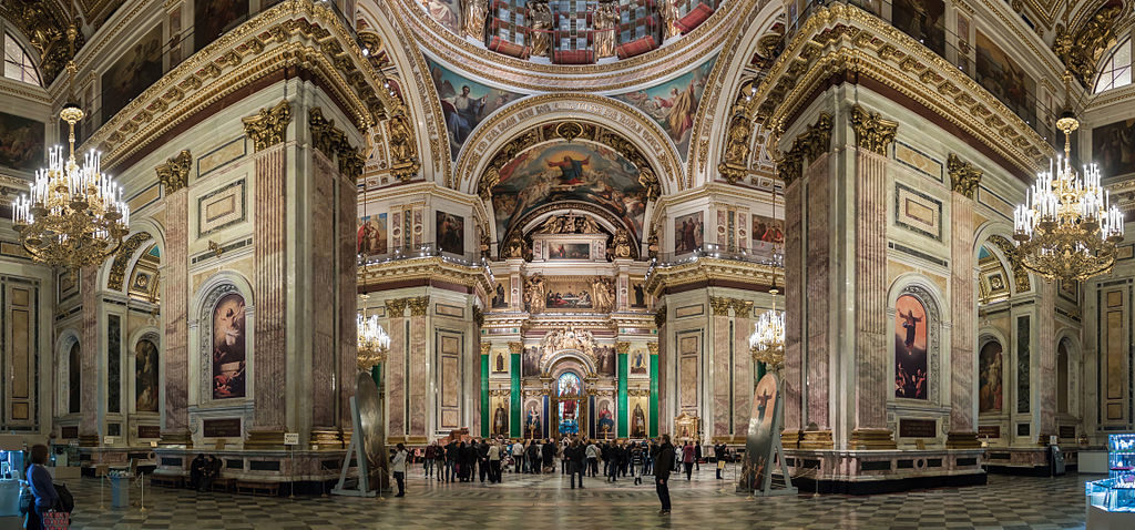 Intérieur de la cathédrale Saint-Isaac de Saint-Pétersbourg - Photo  de Ximeg