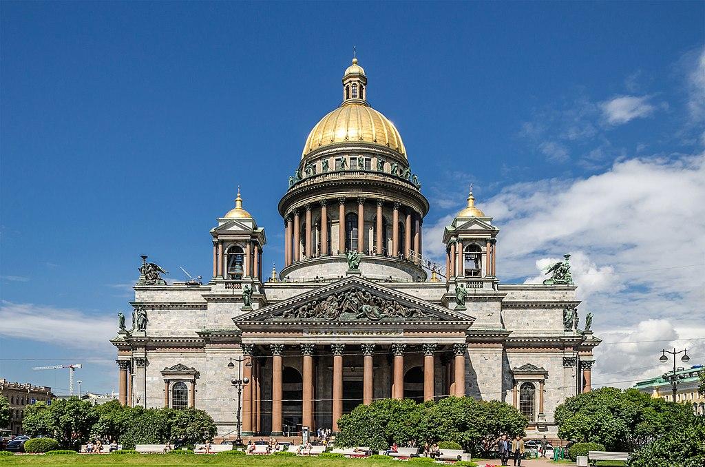 Cathédrale Saint-Isaac de Saint-Pétersbourg : Inspiré de St Paul de Londres