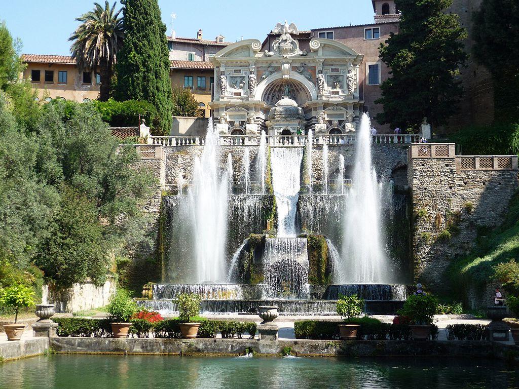 fontaine et jardin de la villa deste tivoli prs de rome photo - Jardins De Tivoli