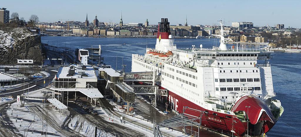 Ferry de la compagnie Viking Line au terminal à Stockholm - Photo d'ArildV