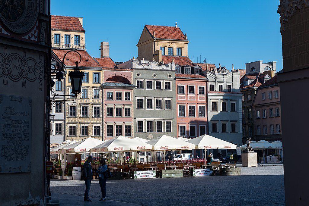 Rynek, la place du marché de la Vieille Ville de Varsovie.
