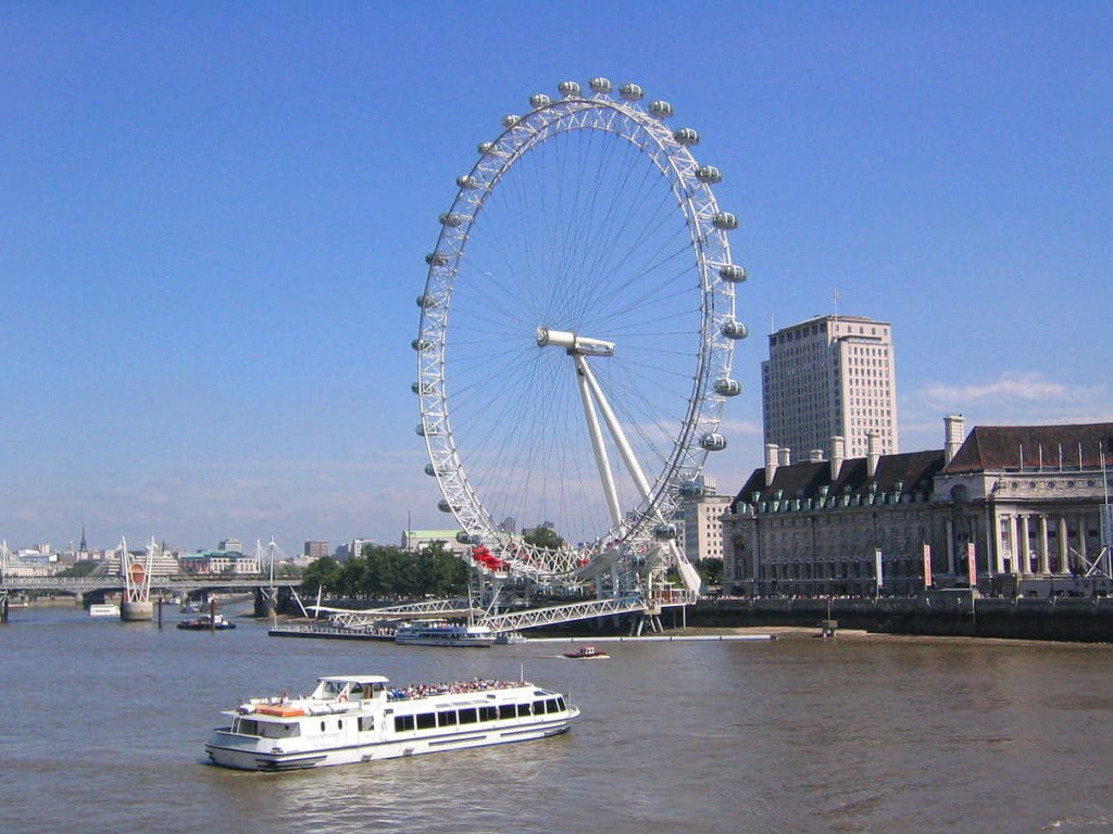 London eye, grande roue de Londres [South bank]