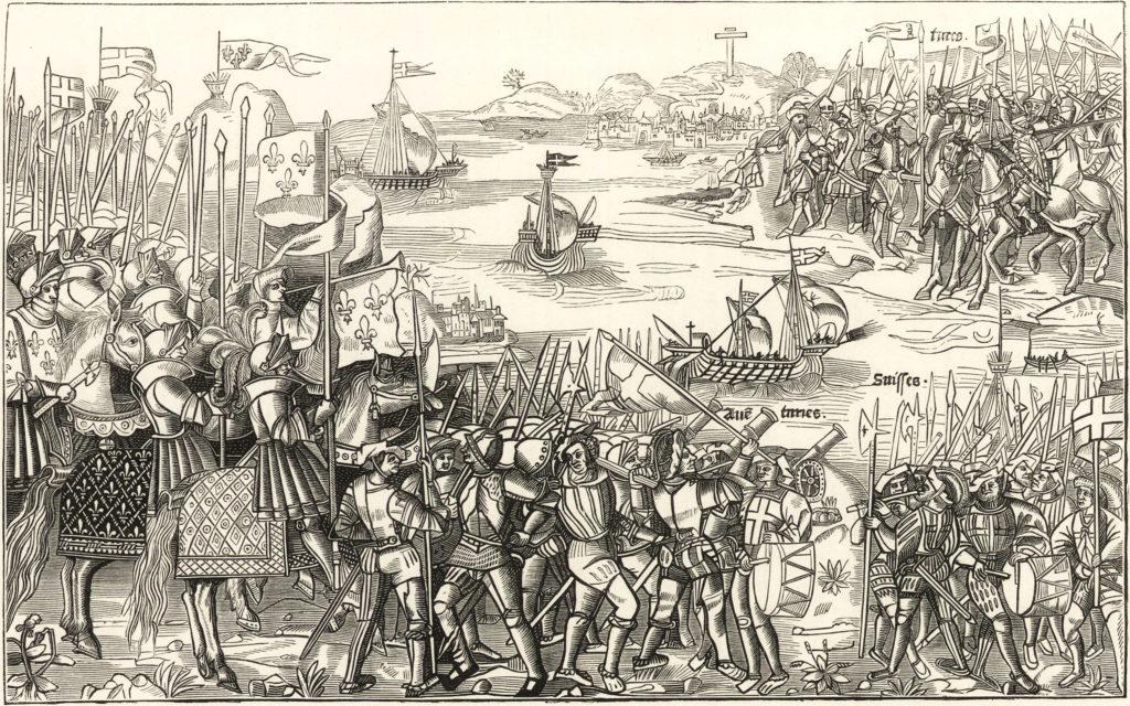 Face à face entre Croisés et Musulmans pendant les Croisades.