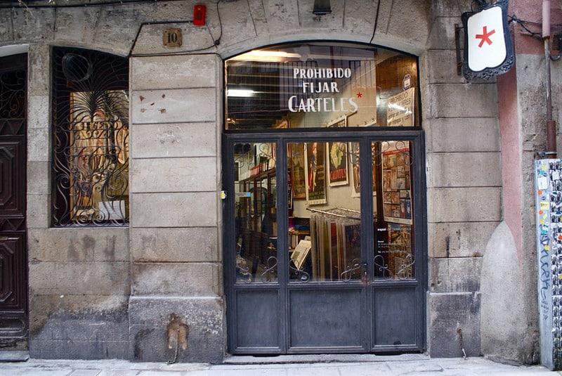 Prohibido Fijar Carteles : Magasin d'affiches et posters à Barcelone [Ribera]