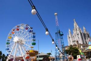 Tibidabo à Barcelone, parc d'attraction et église au sommet !