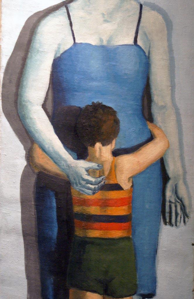"""> Matka umarla (""""mère morte"""") de Wrobelski au musée national de Cracovie."""