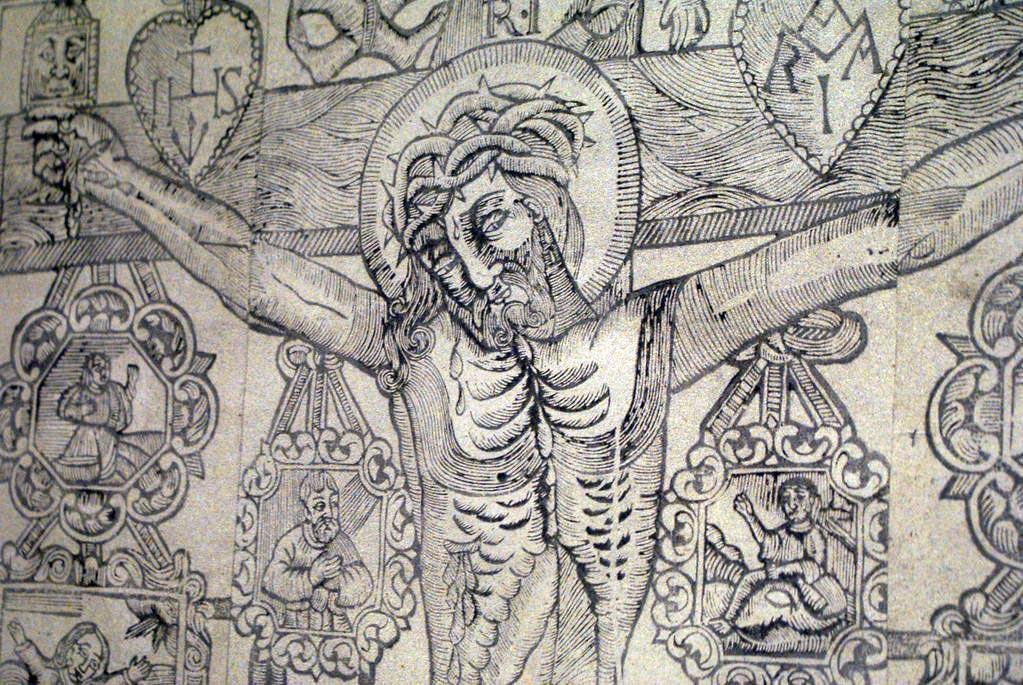 Gravure de Jesus au musée ethnographique de Cracovie.