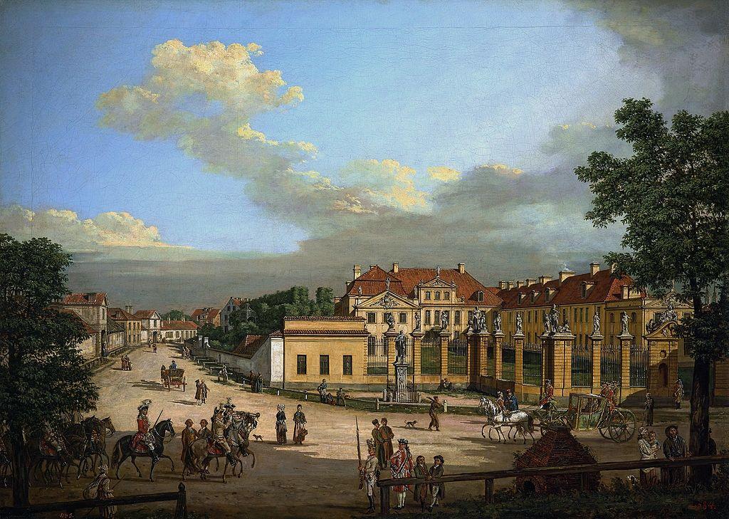 Palais Mniszech à Varsovie par Bellotto vers 1779.