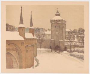 Barbakan et porte Florianska à Cracovie, fortifications médievales [Vieille ville]