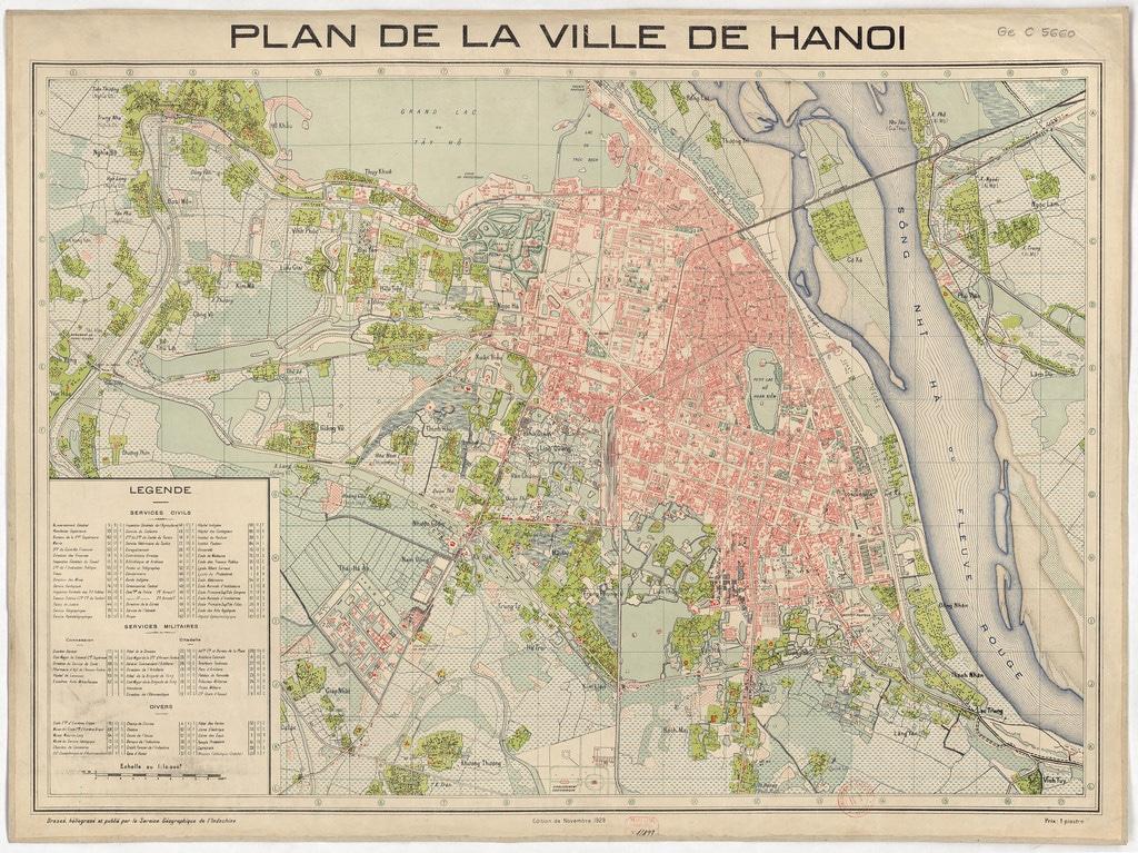 Carte de Hanoi : Plan détaillé de lieux intéressants
