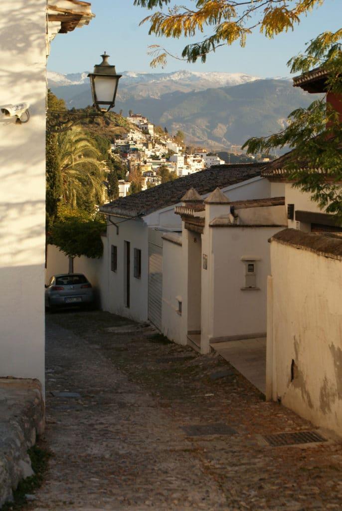 Ruelles de l'Albaicín, l'ancienne médina de Grenade.