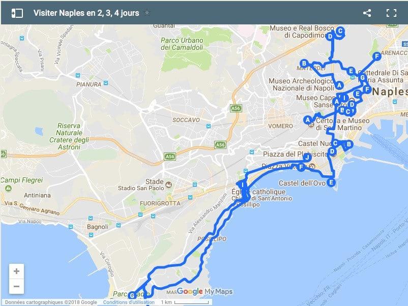 Itinéraires à Naples pour un week-end de 2, 3, 4 jours