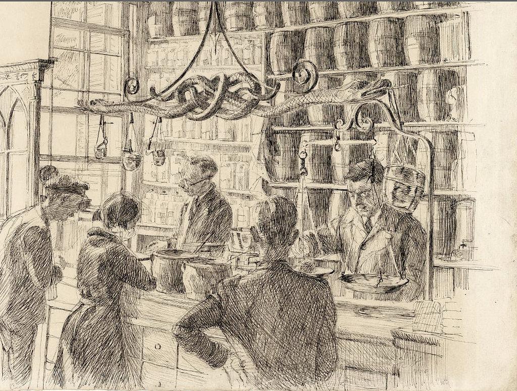 Jacob Hooy, Apothicaire du 18e à Amsterdam [Vieille ville]
