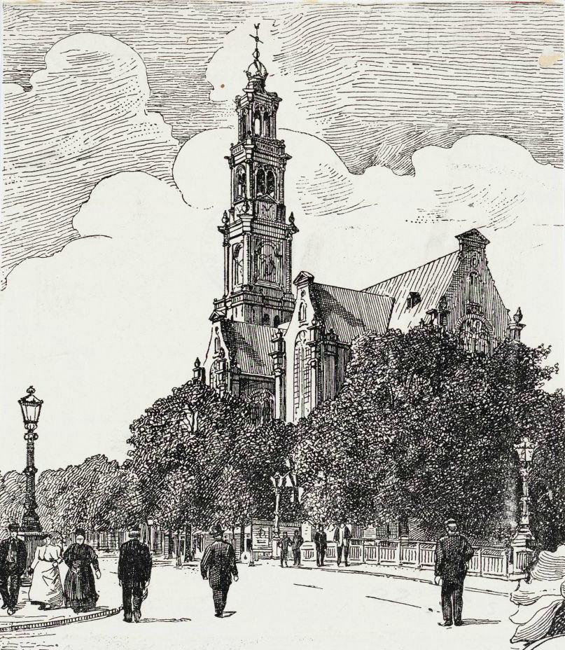 Eglise Westerkerk à Amsterdam : La plus haute tour panoramique [Jordaan]