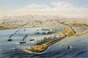 Anciennes images du port de Barcelone