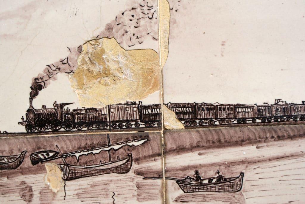 Pour rejoindre Olhão depuis Faro, le train circule le long de la côte.