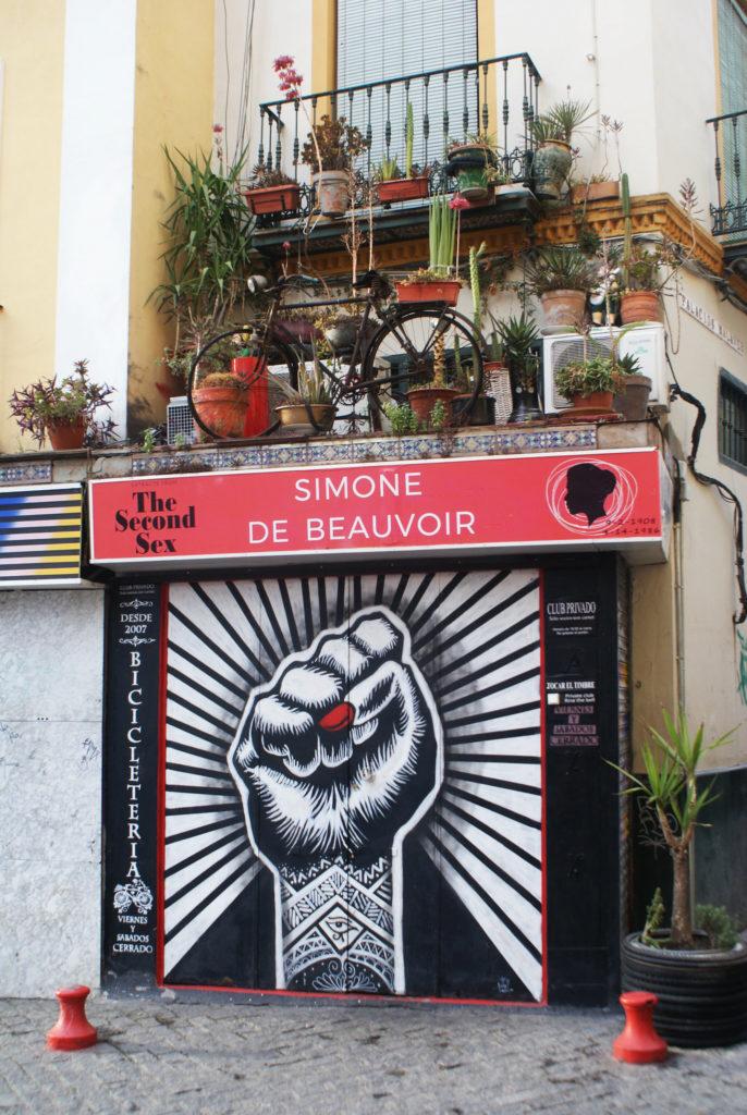Bicicleteria, un bar huis-clos surprenant dans le quartier d'Alameda à Séville.