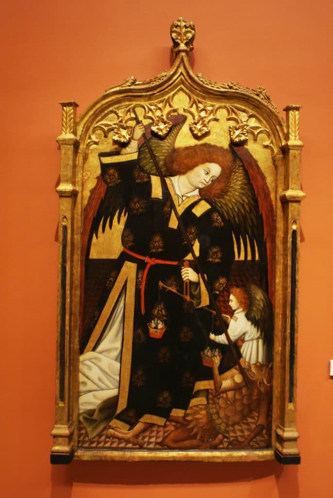 """""""Saint Michel Archange"""" (1480) de Juan Hispalense au Musée des Beaux Arts de Séville."""