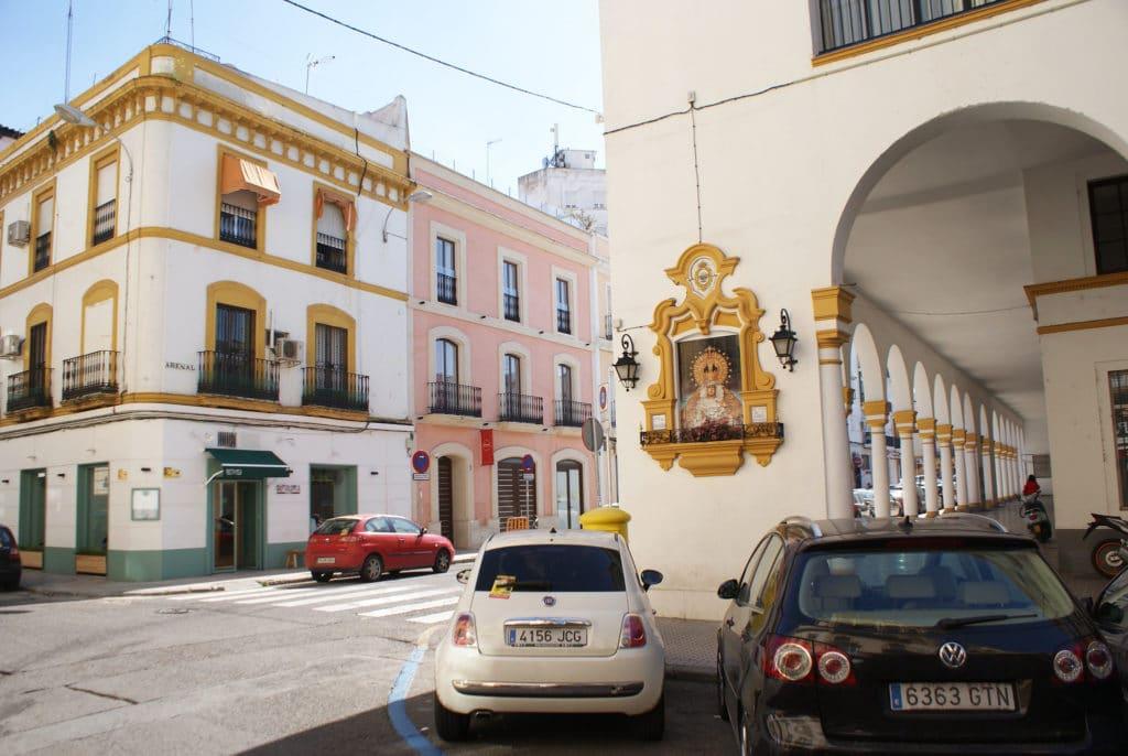 Dans le coin du marché de l'Arenal à Séville.