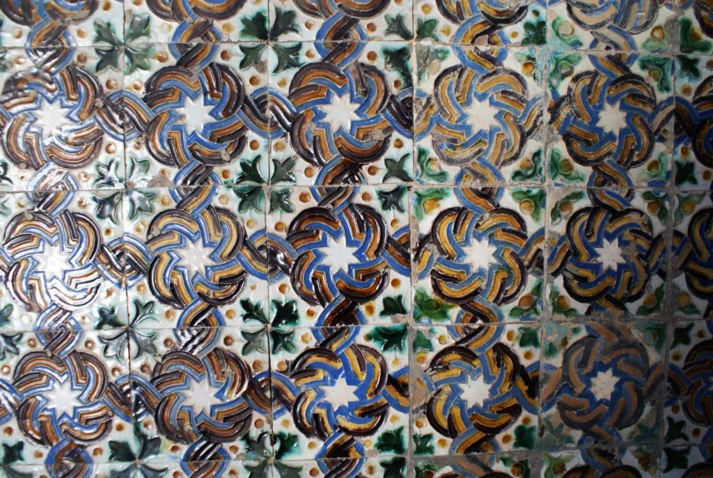 > Azulejos du Palais de Pilate de Séville.